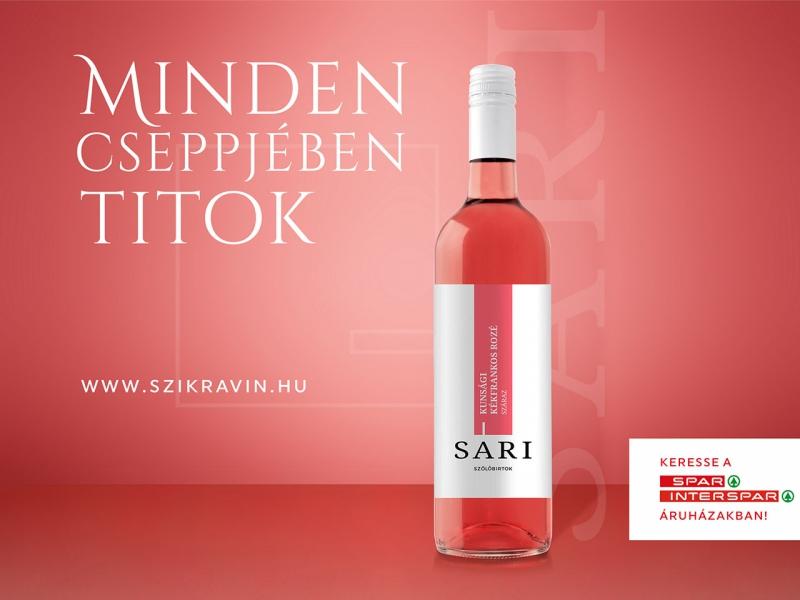 Sári bor sajtó grafika