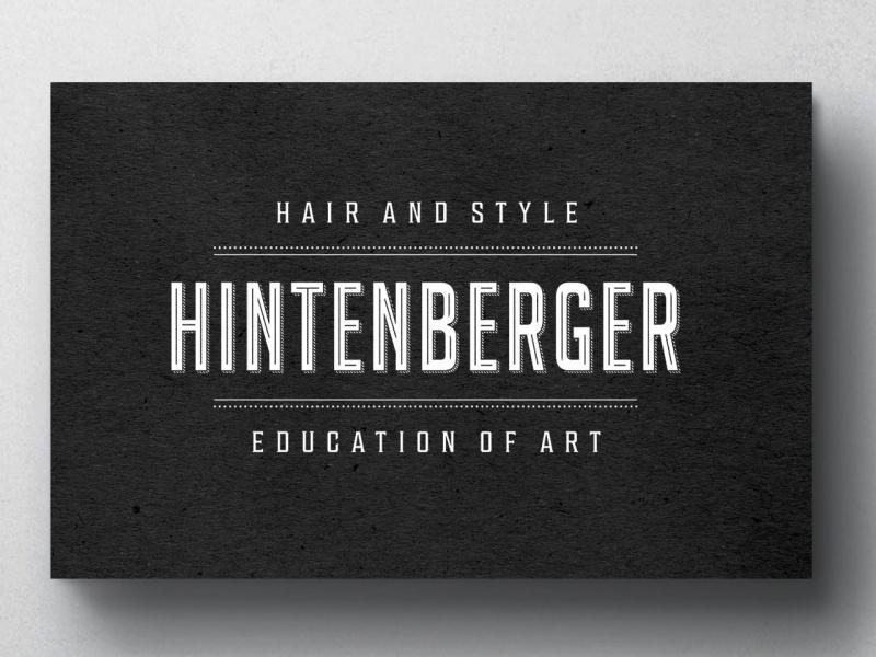 Hintenberger Máté névjegykártya grafika