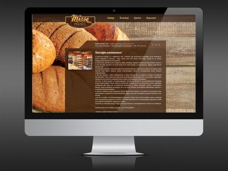 Mizse Pékség Weblap készítés