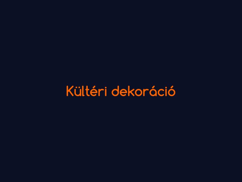 PROFESSZIONÁLIS ÉS KORSZERŰ KÜLTÉRI MEGJELENÍTÉSEK