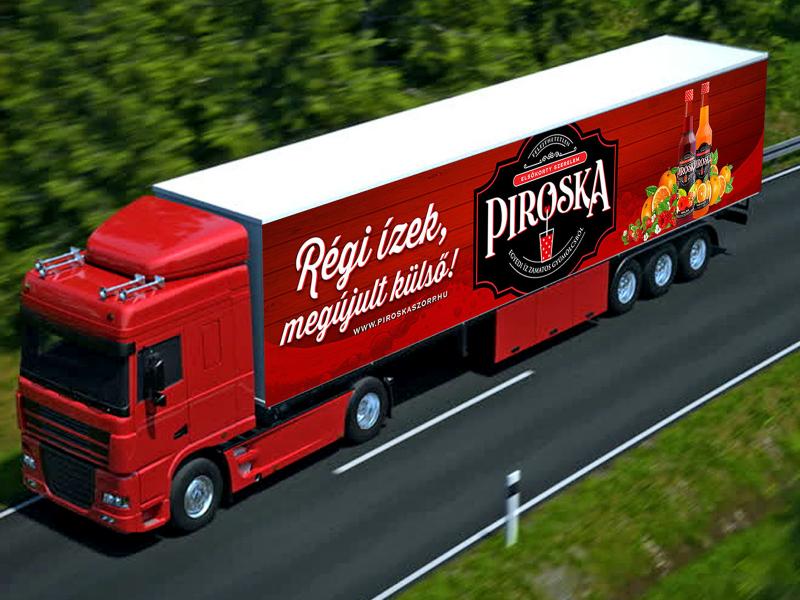 Piroska kamion dekoráció